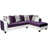 Flash Furniture | Riverstone Implosion Purple Velvet Sectional with Right Side Facing Chaise
