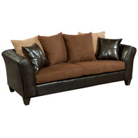 Flash Furniture | Riverstone Sierra Chocolate Microfiber Sofa