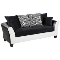 Flash Furniture | Riverstone Implosion Black Velvet Sofa with Black & White Frame