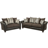 Flash Furniture | Riverstone Rip Sable Chenille Living Room Set