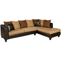 Flash Furniture | Riverstone Sierra Chocolate Microfiber Sectional with Right Side Facing Chaise