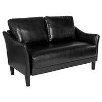 Flash Furniture | Asti Upholstered Loveseat in Black Leather