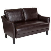 Flash Furniture | Asti Upholstered Loveseat in Brown Leather