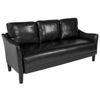 Flash Furniture | Asti Upholstered Sofa in Black Leather