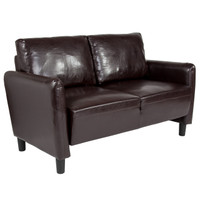 Flash Furniture | Candler Park Upholstered Loveseat in Brown Leather