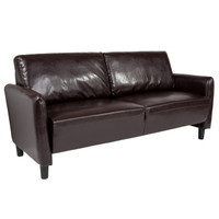 Flash Furniture | Candler Park Upholstered Sofa in Brown Leather