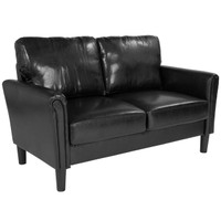 Flash Furniture | Bari Upholstered Loveseat in Black Leather