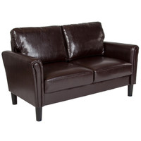 Flash Furniture | Bari Upholstered Loveseat in Brown Leather