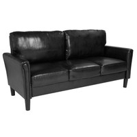 Flash Furniture | Bari Upholstered Sofa in Black Leather