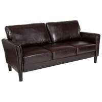 Flash Furniture | Bari Upholstered Sofa in Brown Leather