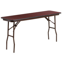 Flash Furniture | 18'' x 60'' Rectangular High Pressure Mahogany Laminate Folding Training Table