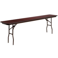 Flash Furniture | 18'' x 96'' Rectangular Mahogany Melamine Laminate Folding Training Table
