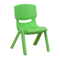 Flash Furniture | Green Plastic Stackable School Chair with 10.5'' Seat Height