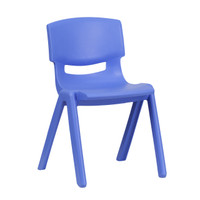 Flash Furniture | Blue Plastic Stackable School Chair with 13.25'' Seat Height