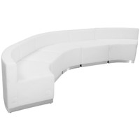 Flash Furniture | HERCULES Alon Series Melrose White Leather Reception Configuration, 5 Pieces
