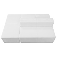Flash Furniture | HERCULES Alon Series Melrose White Leather Reception Configuration, 4 Pieces