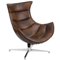 Flash Furniture | Bomber Jacket Leather Swivel Cocoon Chair