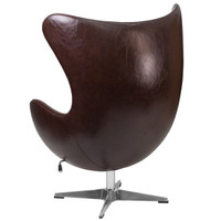 Flash Furniture | Brown Leather Egg Chair with Tilt-Lock Mechanism