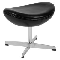 Flash Furniture | Black Leather Ottoman