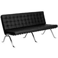 Flash Furniture | HERCULES Flash Series Black Leather Sofa with Curved Legs