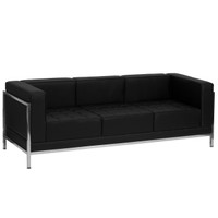 Flash Furniture | HERCULES Imagination Series Contemporary Black Leather Sofa with Encasing Frame