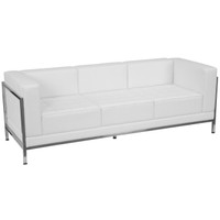 Flash Furniture | HERCULES Imagination Series Contemporary Melrose White Leather Sofa with Encasing Frame