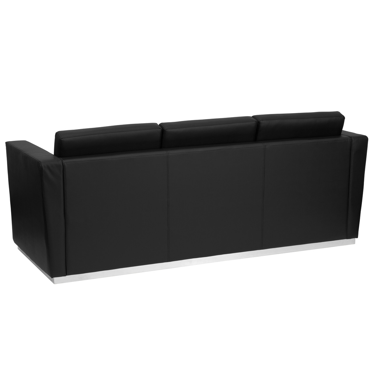 Flash Furniture | HERCULES Trinity Series Contemporary Black Leather ...