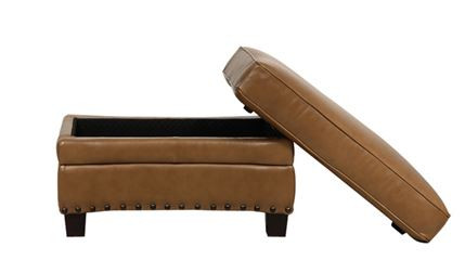 Luke Leather Bennett Storage Ottoman