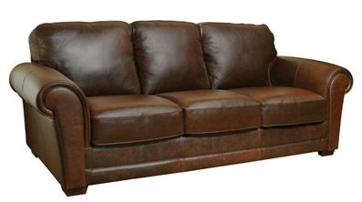 Luke Leather Mark Sofa