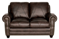Luke Leather Solomon Loveseat
