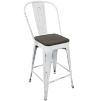 Lumisource | Oregon High Back Counter Stool - Set of 2 | CS