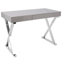 Lumisource | Luster Office Desk | OFD-TM-LSTR GY