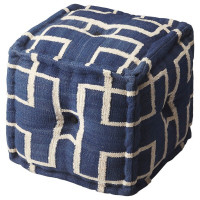 Butler Specialty Furniture | Berkeley Blue Cotton Pouffe | Bs5103978