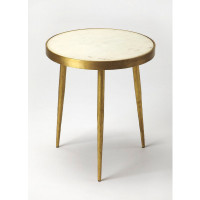 Butler Specialty Furniture | Triton White Marble Bunching Table | Bs9350025