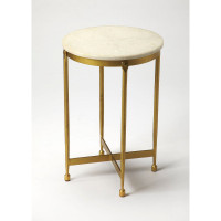 Butler Specialty Furniture | Claypool White Marble End Table | Bs9351025