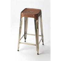 Butler Specialty Furniture | Connor Iron & Leather Barstool | Bs6134344