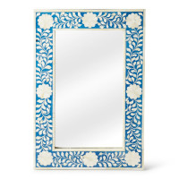Butler Specialty Furniture | Olivia Blue Bone Inlay Wall Mirror | Bs1855070