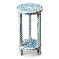 Butler Specialty Furniture | Amanda Blue Bone Inlay Accent Table | Bs3207070