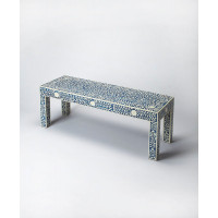 Butler Specialty Furniture | Vivienne Blue Bone Inlay Bench | Bs3558319