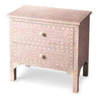 Butler Specialty Furniture   Vivienne Pink Bone Inlay Accent Chest   Bs3224070