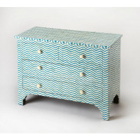 Butler Specialty Furniture | Chevron Blue Bone Inlay Console Chest | Bs3835319