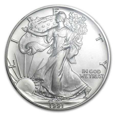 1991 American Eagle Silver Dollar