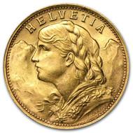 20-Franc Helvetia collectible gold coin