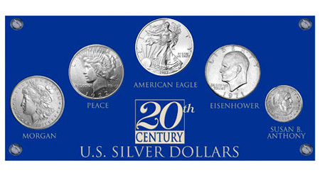 20TH Century Silver Dollar Set