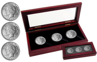 3-coin Peace Silver dollar set