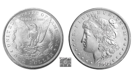 New Orleans Morgan Silver Dollar; O-Mint Morgan Silver Dollar