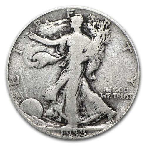 Circulated Walking Liberty Half Dollar