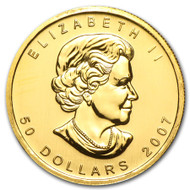 Random Date 1 Ounce Gold Maple Leaf-BU