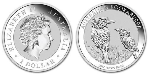 2017 Silver Kookaburra obverse and reverse