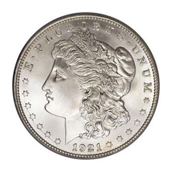 1921 Morgan Silver Dollar obverse